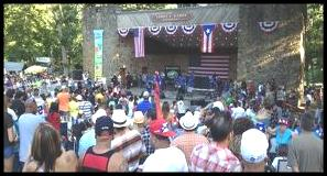 Meriden hubbard Park Puerto Rican Festival stage and audience