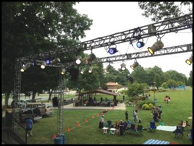 Stage lighting and theatrical lighting two planks theater monroe outdoor stage lighting and sound aloadofball Images